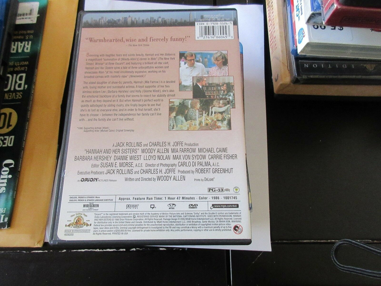 Hannah and Her Sisters , DVD