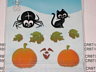 Pumpkins w// Crow and Leaves 655569 Halloween Pumpkin Sizzix Bigz Die NEW