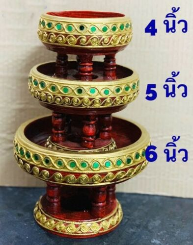 Details about  /Wood Tray Peg Leg Carving Gliding Gold Leaf Serving Food Cake Coffee Decorative