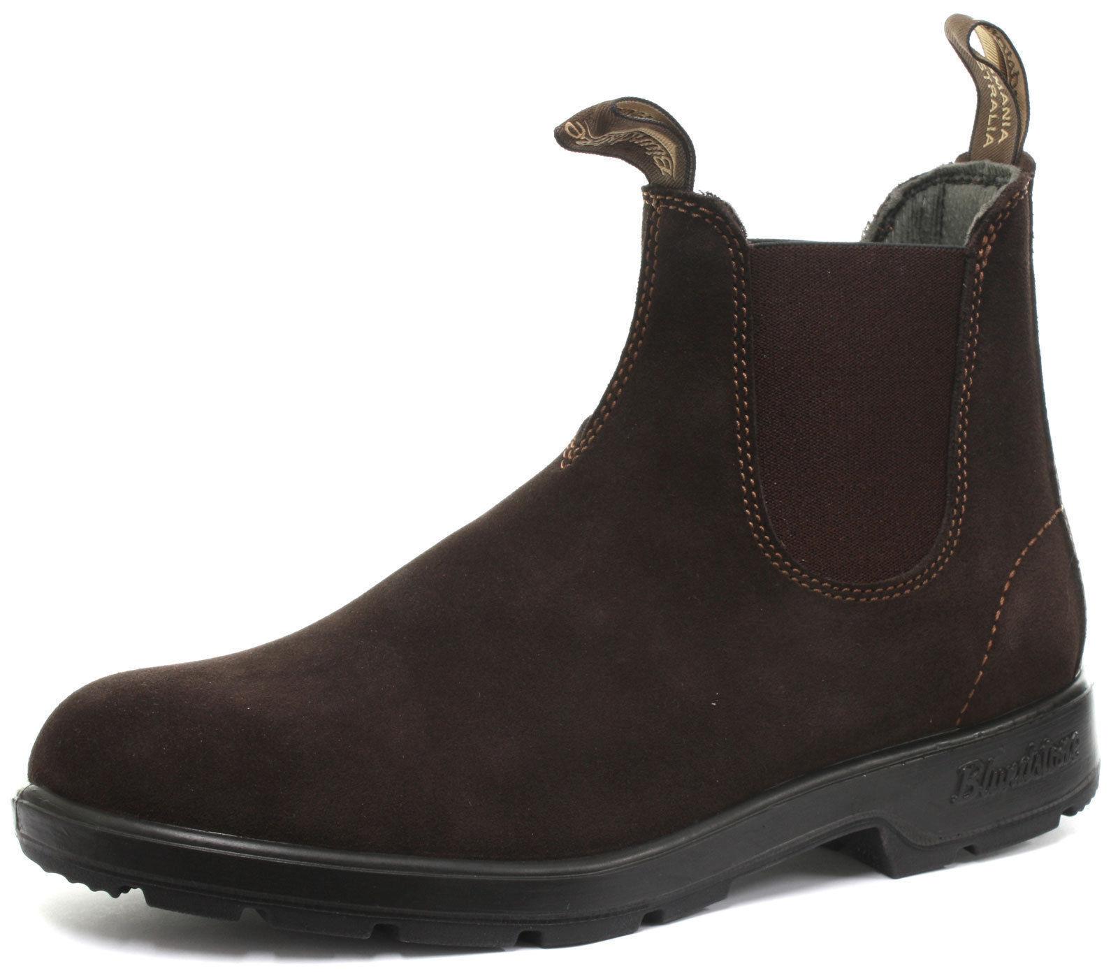 New Blaundstone 1458 braun Suede Unisex Leather Chelsea Stiefel ALL GrößeS