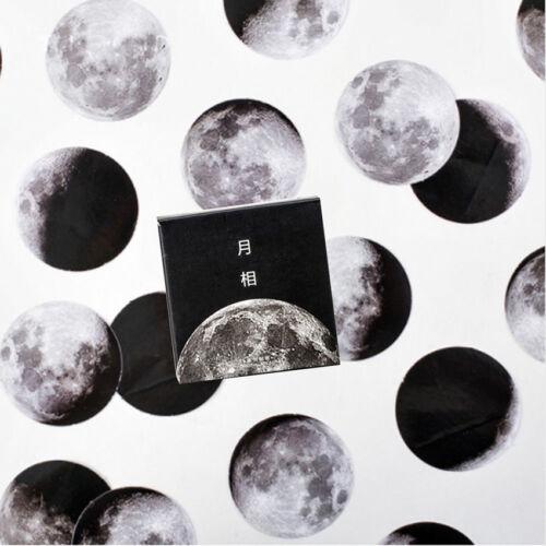 45Pcs//box Cute Creative Moon Mini Paper Sticker Diary Scrapbooking Label Sticker