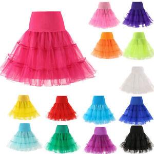 CO-26inch-Underskirt-50s-Swing-Petticoat-Rockabilly-Tutu-Fancy-Net-Skirt-Splend