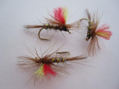 1 DZ D16-5 INDICATOR PARACHUTE DRY FLIES STYLE /& SIZES AVAILABLE