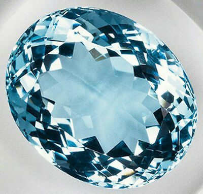 Oval AAA Rated Aquamarine Blue Green Cubic Zirconia (5x3mm to 20x15mm)