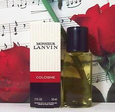 Monsieur Lanvin Cologne Splash 2.0 Oz. NIB. Vintage