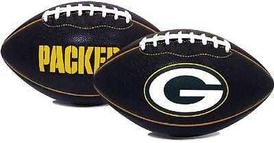 GREEN BAY PACKERS BLACK PT6 FOTOBALL JARDEN SPORTS NFL RAWLINGS FULLSIZE FOOTBAL