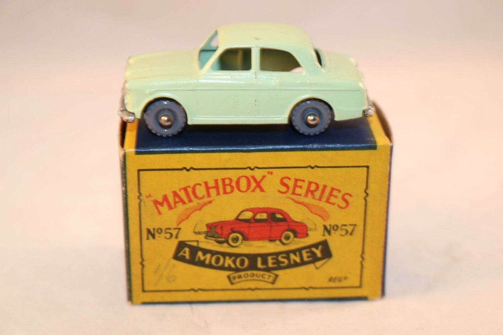 Matchbox A Moko Lesney No 57 Wolseley 1500 with GPW near mint in box