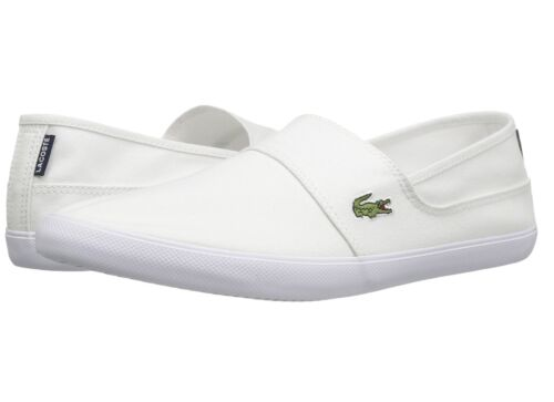 Lacoste Marice BL 2 Men/'s Croc Logo Casual Slip On Loafer shoes Sneakers White