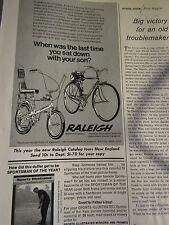 1970 Raleigh Original Print Ad Chopper-8.5 x 10.5 '' - 1/3 page Ad