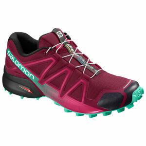 Details about Trail Running Shoes Woman salomon Speedcross 4 W Beet Red