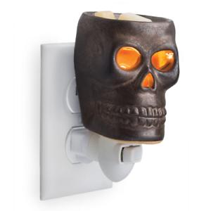 Skull-Wax-Tart-Oil-Fragrance-Warmer-Electric-Plug-in-Goth-Melter-New-Biker