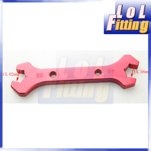 4 AN4//3AN 4AN 3 AN3 Double Ended Wrench Spanner CNC Billet Aluminum Red