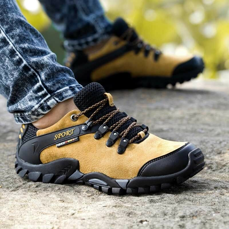 Mens Outdoor Hiking Casual shoes Breathable shoes Athletic Trekking Non-slip New