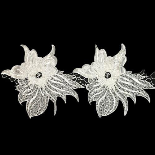 1 Yard Lace Ribbon Trim Guipure Big Flower Applique Wedding Embellishment Craft