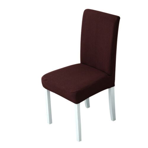 Plaid Polar.Fleece Thickened Elastic Dining Chair Seat Covers Dust-proof Protect