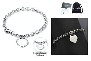 Bracciale-Donna-Acciaio-Ciondolo-Cuore-Frase-Dedica-Nome-Incisione-Personalizzat