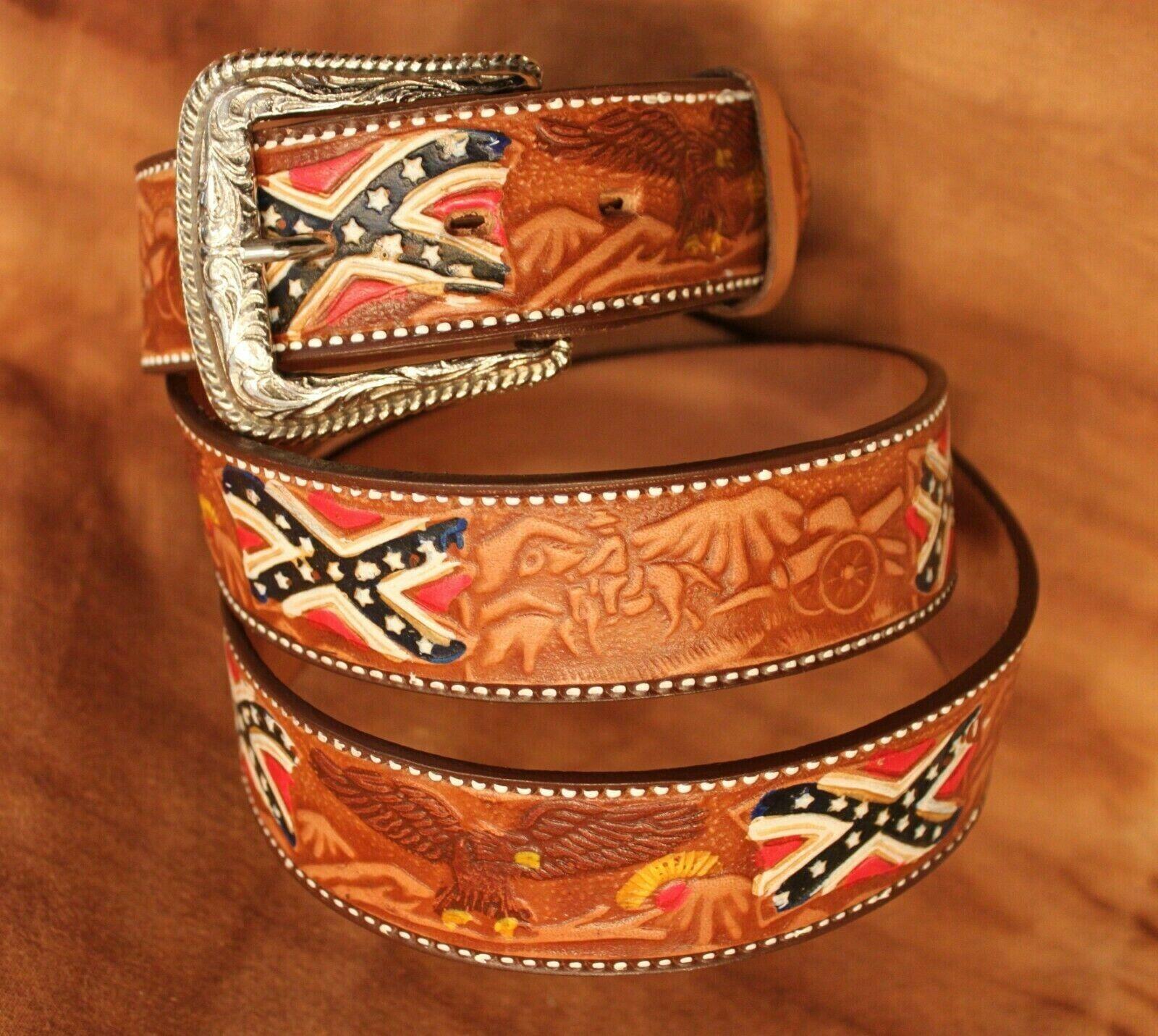 AC Belt V. Stars and Stripes, WG 12, Brown, Leather,! lagerräumug!