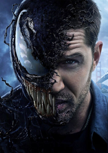 FREE P+P Venom Poster Tom Hardy Marvel New 2018 Movie Spiderman CHOOSE UR SIZE