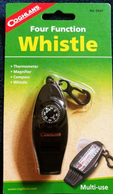 Coghlan's Four Function Whistle Thermometer Magnifier Compass 4-Function