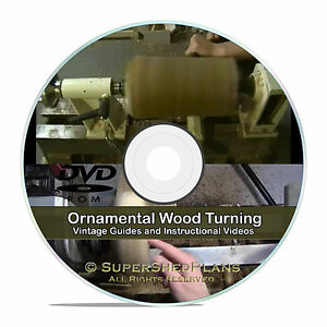 Ornamental Wood Turning Woodworking Lathe Books Guides Project