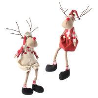 Raz Imports19 Sitting Farmhouse Reindeer Coupleset Of 2christmas Deer/wreath