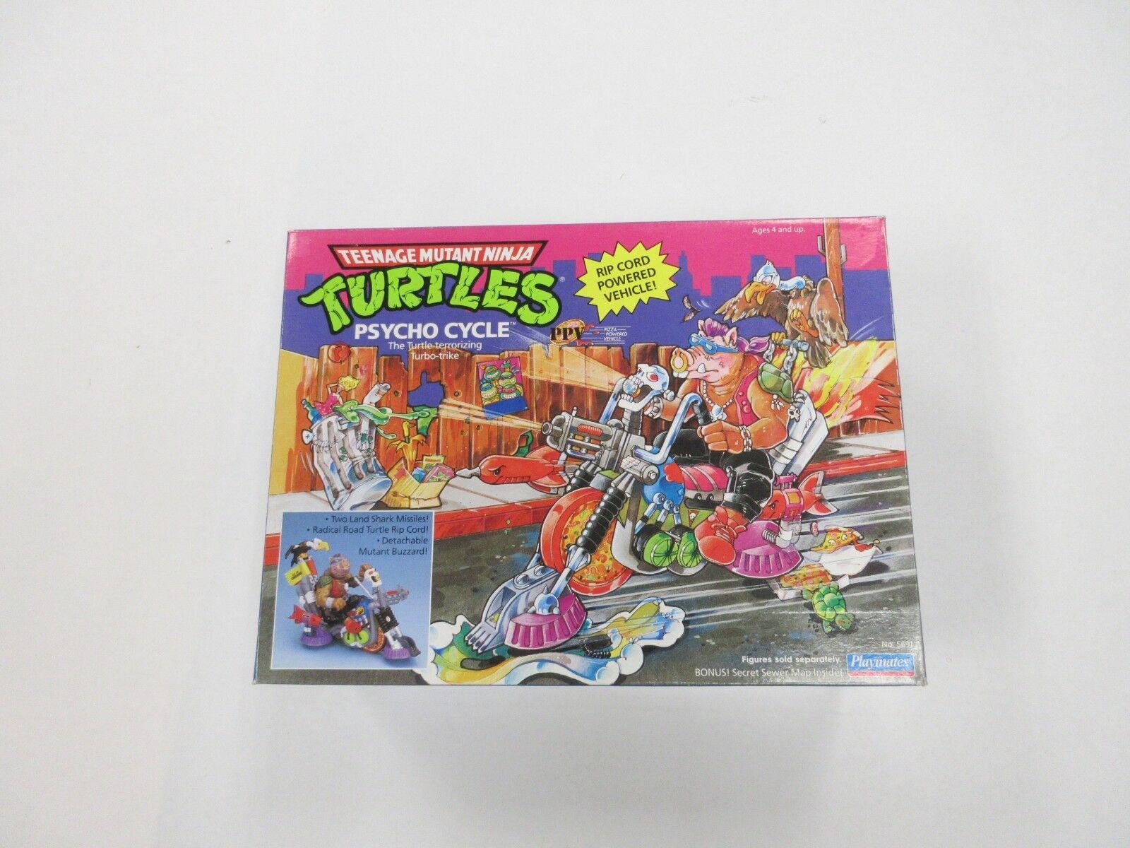1990 1990 1990 TMNT NINJA TURTLES PSYCHO CYCLE FIGURE VEHICLE UNUSED WITH BOX bc1e09