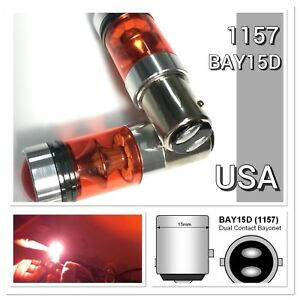 Front Signal 1157 3496 7528 BAY15D CREE XBD CANBUS 20SMD LED Yellow K1 For AK