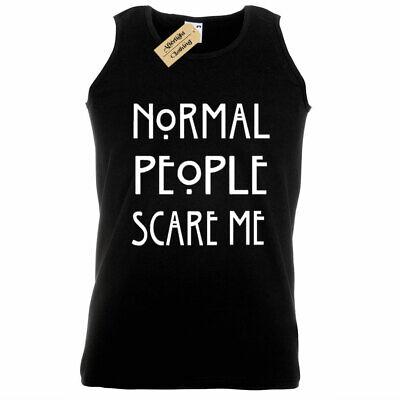 Normal People Scare Me Mens funny goth rock punk emo Tank Top Vest
