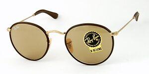 Gafas-de-sol-RayBan-3475Q-ROUND-CRAFT-Autentica-piel-elige-el-color