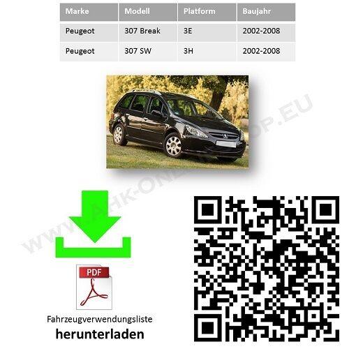Anhängerkupplung  ES13 Peugeot 307 SW Break Kombi Bj 02-08 2Jahre Garantie NEU