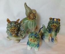 VINTAGE FAMILYOF 3 CHINESE FOO DOGS