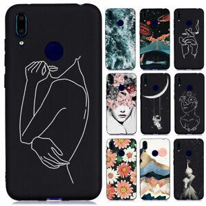 Pour-Huawei-Y6-Y7-2019-Y5-Y6-Y7-2018-Slim-Silicone-Souple-peint-TPU-Case-Cover