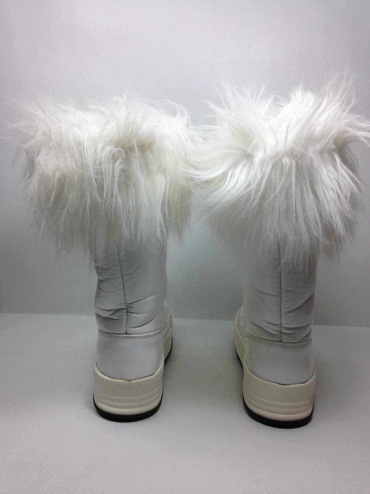 Pajar Weiß Stiefel Patten Leder  Mid calf Fur Top Stiefel Weiß Größe Eur. 36 027a23