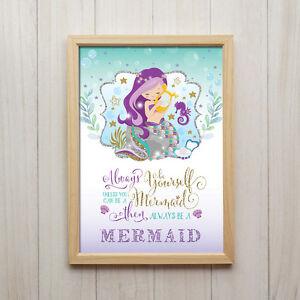 meerjungfrau sprüche Meerjungfrau Spruch Kunstdruck Poster A4 Glitter Geschenk  meerjungfrau sprüche