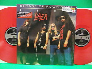 BLOOD-RED-VINYL-Slayer-Decade-Of-Aggression-Live-1991-2013-2LP-Record-180-Gram
