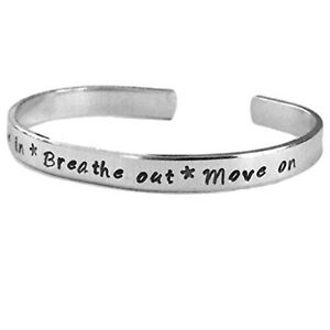 Breathe-in-Breath-Out-Move-on-Stacking-Bracelets-Adjustable-Silver-Alumin