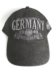 Basecap-Germany-Baseball-Kappe-Denim-Souvenir-Germany-Deutschland