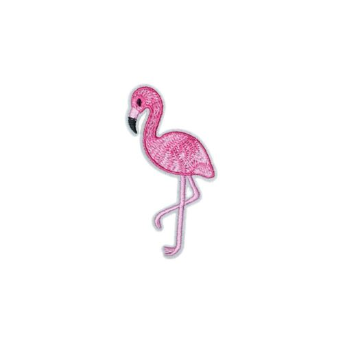 Pink Flamingo R Embroidery Applique Patch Sew Iron Badge Iron on