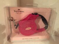 Juicy Couture Dog Leash, Retractable, Limited Edition, Jeweled Bling