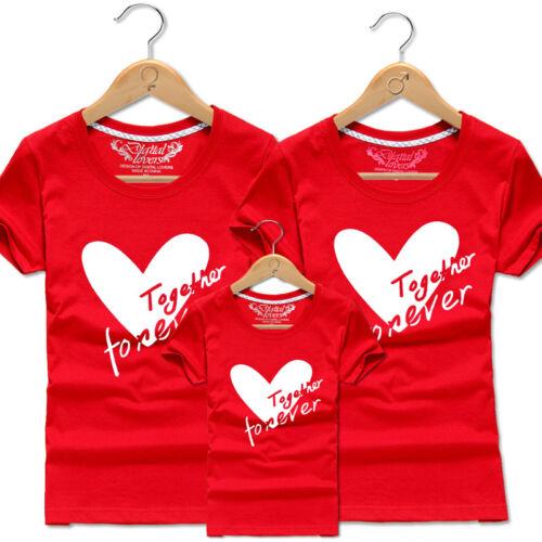 Nouveau parent-enfant Casual Tops à manches courtes Couple Lover T-shirt Together Forever