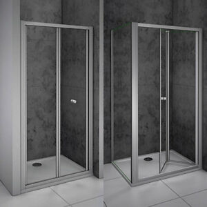 Quality bifold shower enclosure walk in safety glass door panel image is loading quality bifold shower enclosure walk in safety glass planetlyrics Gallery