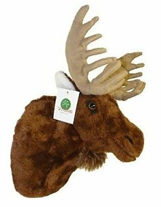 Moose Plush Wall Mount For Nursery Guest Room Cottage Stuffed Animal