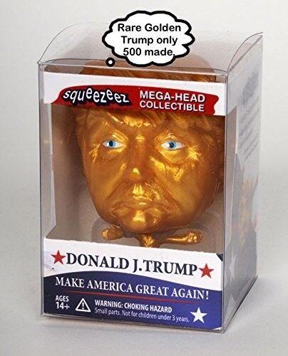 Mega Head Collectible Make America Great Again Gold... Donald Trump Squeezeez