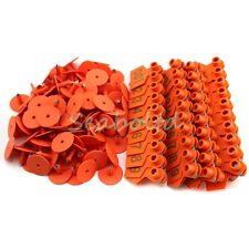 Orange 1 100 Number Plastic Livestock Ear Tag Animal Tag For Goat Sheep Pig