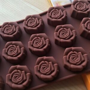 15-Cavity-Silicone-Flower-Rose-Chocolate-Cake-Soap-Mold-Baking-Ice-Tray-Mould
