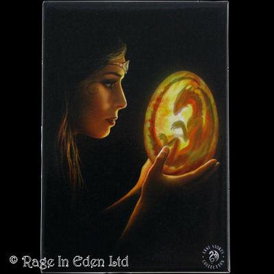 *BEGINNINGS* Goth Fantasy Baby Dragon Art Fridge Magnet By Anne Stokes (8x5.5cm)
