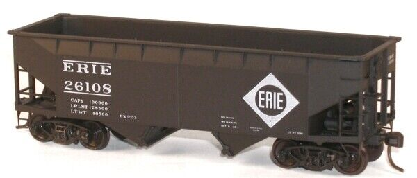 Kit Form Accurail HO #7717 Erie 55-Ton Offset Twin Hopper