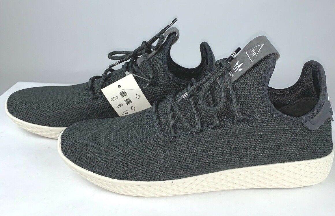 Adidas ORIGINALS Pharrell WilliamTENNIS HU CQ2162 Carbon Chalk White NWT 8.5 9.5