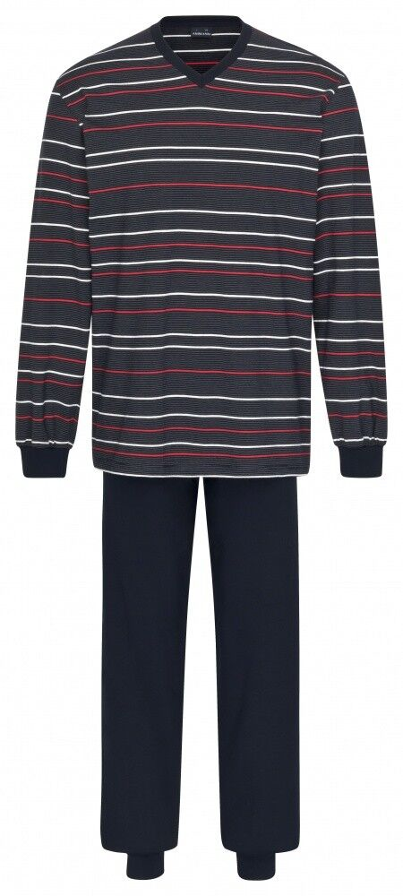 Ammann Extra Light Cotton Schlafanzug lang mit V-Ausschnitt 9936 Herren