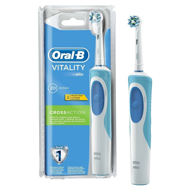 Brosse à Dents Électrique Rechargeable - Oral-B Vitality CrossAction par Braun